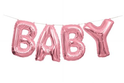 Baby Pink  Balloon Banner
