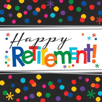 Retirement Beverage Napkins