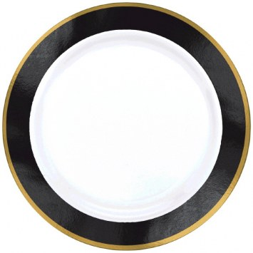 White With Black Dinner Plates