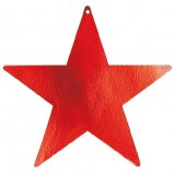 Star Cutout 9in Red-5ct