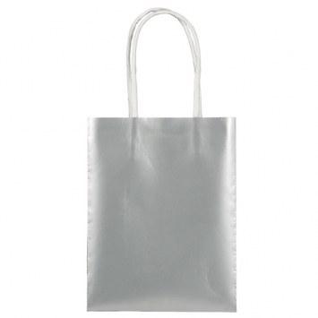 Silver Mini Kraft Bag