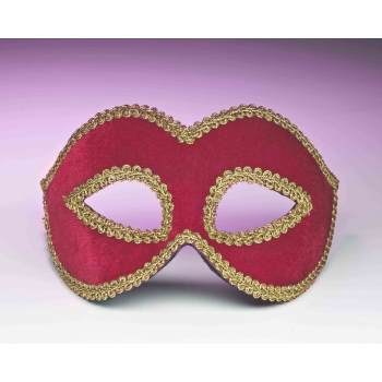 Red Velour Half Mask