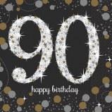 90th Beverage Napkins