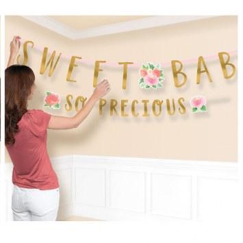 Floral Baby Banner Kit