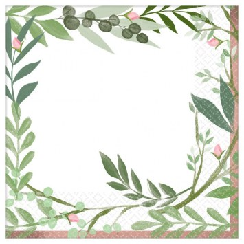 Love & Leaves Lunch Napkins