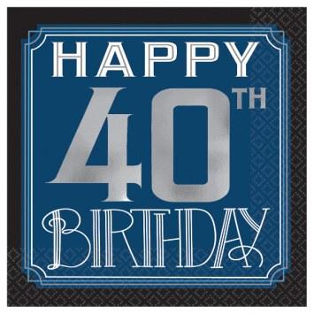 40th Birthday Man Bev Napkins