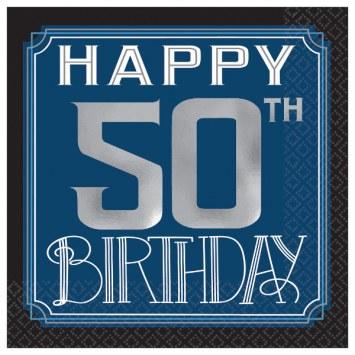 50th Birthday Man Bev Napkins