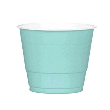 Robins Egg Blue Plastic Cups