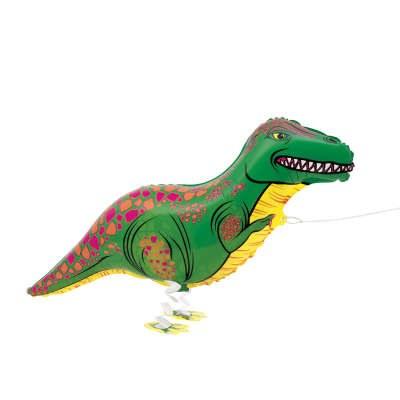 Dinosaur Walking Foil Balloon
