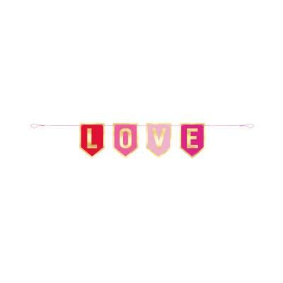 Love Foil Pennant Banner