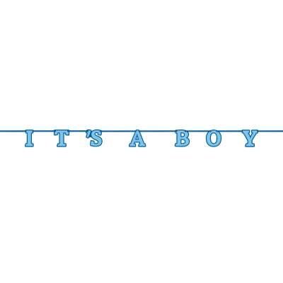 Its A Boy Letter Banner