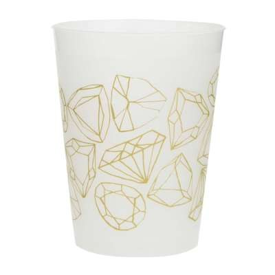 Diamond Print Plastic Cups
