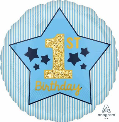 1st Birthday Stp & Stars Foil