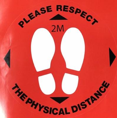 Social Distance Decal- Respect