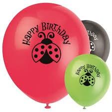 Ladybug Latex Balloons