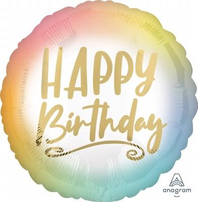 Ombre Birthday Foil Balloon