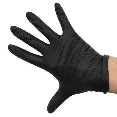 Gloves Blk Nitrile 100ct Small