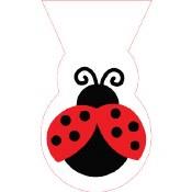 Ladybug Clear Shaped Bags