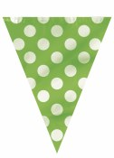 Polka Dot Flag Banner Lime