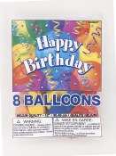 Birthday Latex Balloons