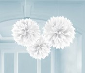 Fluffy Decor Balls White