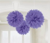 Fluffy Decor Balls Lavender