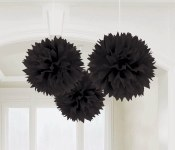 Fluffy Decor Balls Black