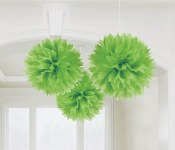 Fluffy Decor Balls Kiwi