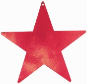Star Cutout 15in Red