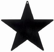 Star Cutout 3 1/2in Black