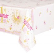1st Bday Pink/gold Tablecover