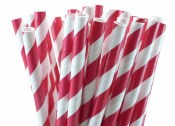 Paper Straws Red Stripes