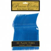 Royal Blue Plastic Forks