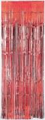 Metallic Curtain Red