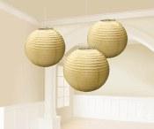 Lanterns 9.5in Gold