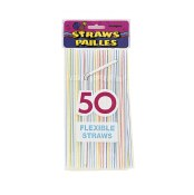 Striped Flex Straws