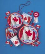 Canada Day Dessert Plate