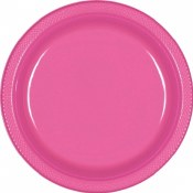 Bright Pink Dinner Plas Plates