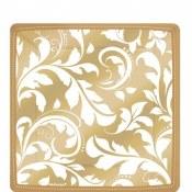 Scroll Dessert Plates Gold