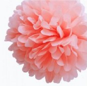 Fluffy Decor Balls Light Pink