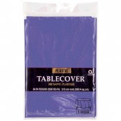 Purp Round Plastic Tablecover