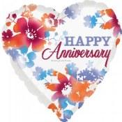 Happy Anniversary 18 In Foil