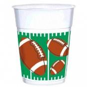 Football 16oz Plastic Cups