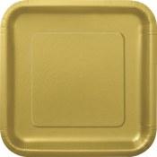 Gold Square Dinner Plates