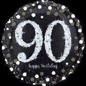 90th Sparkling Foil Balloon