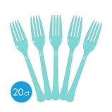 Robins Egg Blue Forks