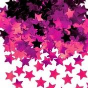 Star Confetti Hot Pink
