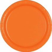 Orange Lunch Paper Plates