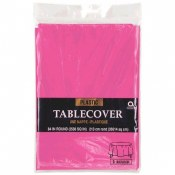 Bright Pink Round Tablecover