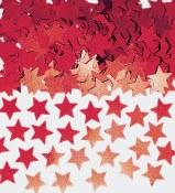 Star Confetti Red